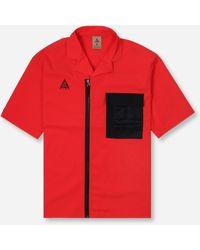 Nike Acg Full Zip Shirt - Red