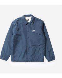 PATTA Basic Sherpa Coach Jacket - Blue