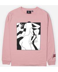 by Parra Artist Businesswoman Long Sleeve T-shirt - Pink