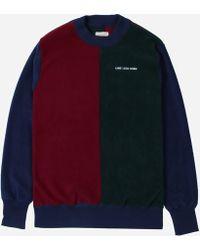 Aimé Leon Dore Polar Fleece Blocked Sweatshirt - Multicolour