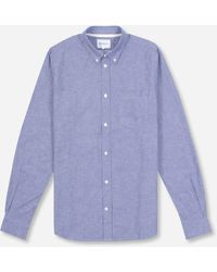 Norse Projects Osvald Cotton Shirt - Blue