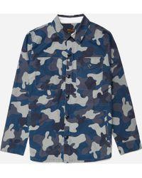 Barbour - Camo Button Thru Overshirt - Lyst