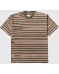 Garbstore Striped Short Sleeve T-shirt - Multicolour