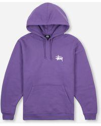 Stussy Basic Hoodie - Purple