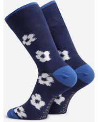 Universal Works 3 Pack Flower Socks - Blue