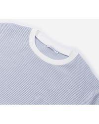 Nanamica Coolmax Seersucker T-shirt - Blue