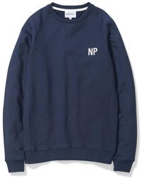 Norse Projects - Ketel Crew Embroidery Logo Dark Navy - Lyst