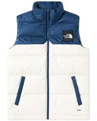 The North Face - 1992 Nuptse Vest Blue Wing Teal Vintage White - Lyst