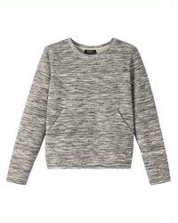 Sweaters A.p.c. Sweat Marika Gris Chine - Gray