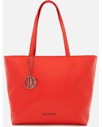 Armani Exchange - Patent Tote Bag - Lyst