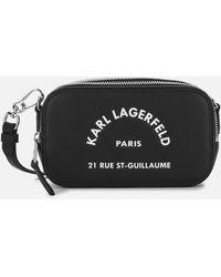 Karl Lagerfeld Rue St Guillaume Cross Body Bag - Black