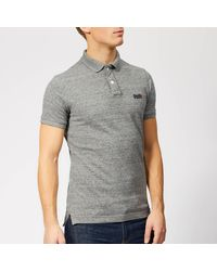 Superdry Classic Pique Polo Shirt - Grey