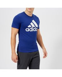adidas - Essential Linear Short Sleeve T-shirt - Lyst