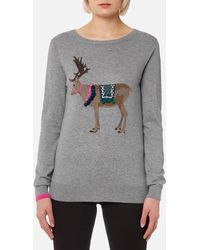 Joules - Festive Luxe Embellished Intarsia Jumper - Lyst
