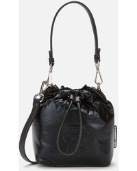 Karl Lagerfeld K/ikonik Nylon Bucket Bag - Black