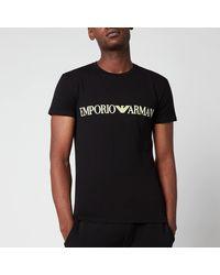 Emporio Armani Megalogo Crew Neck T-shirt - Black