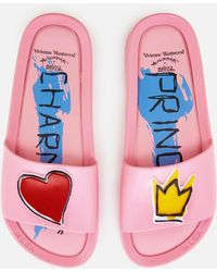 Melissa + Vivienne Westwood Anglomania | Charming Beach Slide Sandals | Lyst