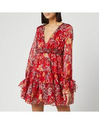 Free People Closer To The Heart Mini Dress - Red