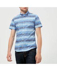 Tommy Hilfiger - Watercolour Stripe Short Sleeve Shirt - Lyst