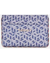 Tommy Hilfiger Iconic Tommy Credit Card Mono - Blue