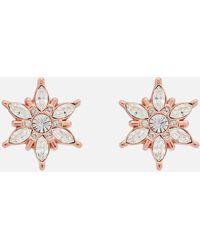 Olivia Burton Ice Queen Snowflake Studs - Pink