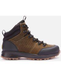 UGG Emmett Waterproof Leather Hiking Style Boots - Green