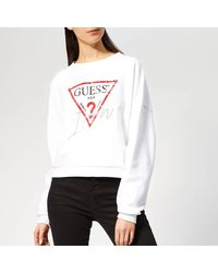 Guess Icon Sweater - White