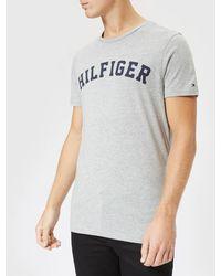 Tommy Hilfiger Short Sleeve Logo T-shirt - Grey