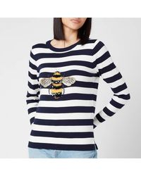 Joules Miranda Luxe Knitted Sweatshirt - Blue