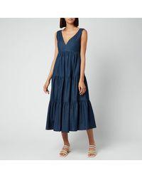 Kate Spade Chambray Vineyard Midi Dress - Blue