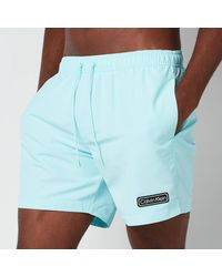 Calvin Klein Medium Drawstring Swimshorts - Blue