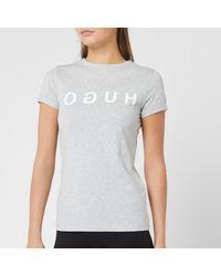 HUGO - Denna T-shirt - Lyst