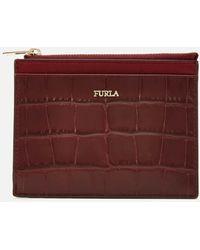 Furla Babylon Small Zip Card Case - Purple