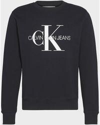 Ck Jeans Ck Jeans Iconic Monogram Sweatshirt - Black