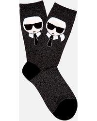 Karl Lagerfeld K/ikonik Socks - Black