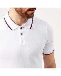 Armani Exchange Tipped Polo Shirt - White