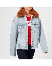 Levi's - Women's Oversized Sherpa Trucker Jacket - Lyst