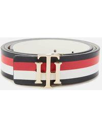 Tommy Hilfiger Reversible Logo Belt - Blue