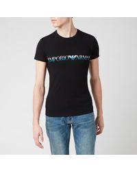 Emporio Armani Megalogo T-shirt - Black