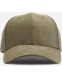 718bbc22 Timberland Men's Faux-suede Baseball Cap in Black for Men - Lyst