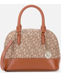 DKNY Bryant Park Dome Satchel - Brown