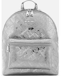 Love Moschino - Metallic Embossed Logo Backpack - Lyst