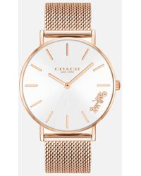 COACH Perry Mesh Strap Watch - Pink