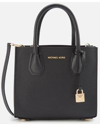 MICHAEL Michael Kors Mercer Medium Acrdion Messenger Bag - Black