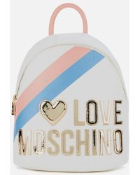 Love Moschino Logo Stripe Backpack - Multicolour