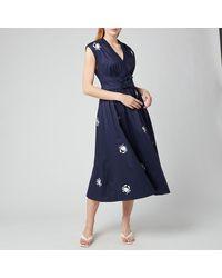 Kate Spade Snappy Poplin Bow Dress - Blue