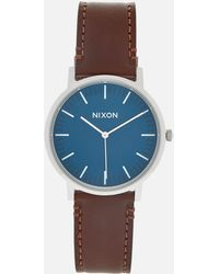 Nixon   The Porter Leather Watch   Lyst