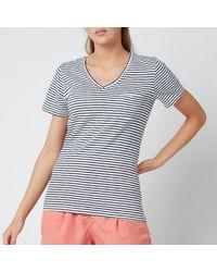 Superdry Pocket V Neck T-shirt - Blue