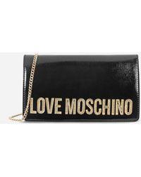Love Moschino Logo Charm Cross Body - Black