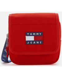 Tommy Hilfiger Heritage Flap Nylon Cross Body Bag - Red